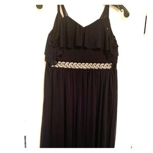 Navy long dress